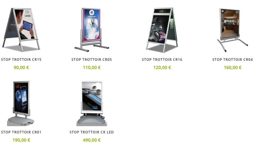 Votre stop trottoir publicitaire chevalet de rue for Plv broker